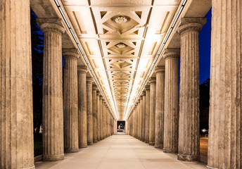 Colonnade at night