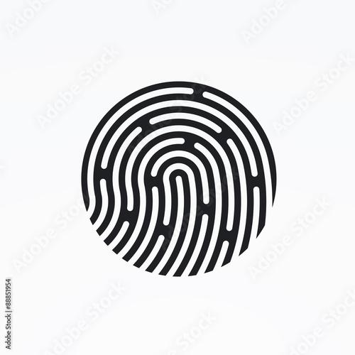 Id App Icon Fingerprint Vector Illustration Stock Image And