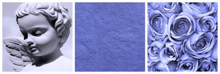blue images composition