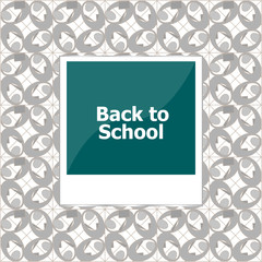 photo frame with back to school words