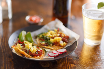 Sticker - al pastor street tacos with pineapple and beer
