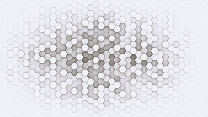3d hexagonal background design structure