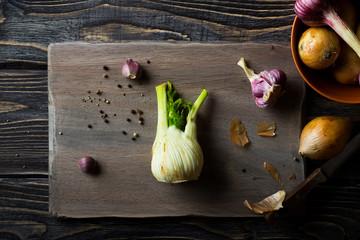Garlic, Fennel and Onion