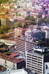Milan, Italy; aerial view