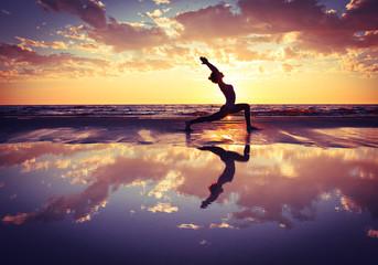 Printed roller blinds Yoga school woman practicing yoga