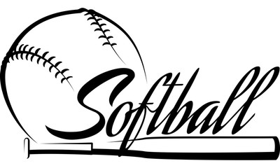 Softball Ball Banner