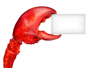 Spoed Fotobehang Schaaldieren Lobster Claw Sign