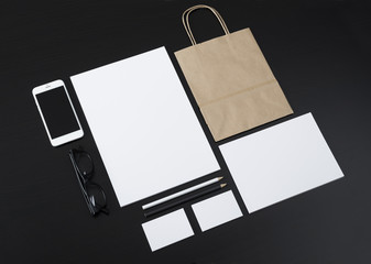 Letterhead and logo design template for shop or restaurant