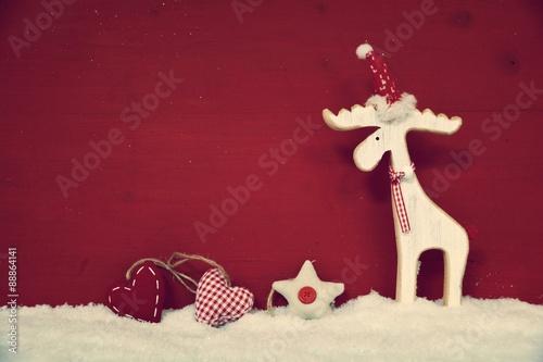 Weihnachten Nostalgisch.Weihnachten Hintergrund Rot Weiß Nostalgisch Stockfotos Und