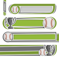 Illustrations to use text on the subject  baseball