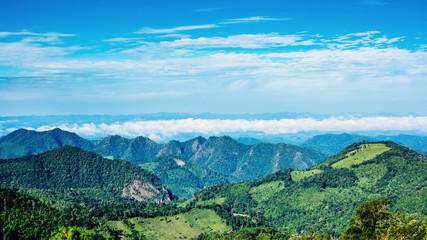 ฺBeautiful mountain in Mae Hong Son thailand.