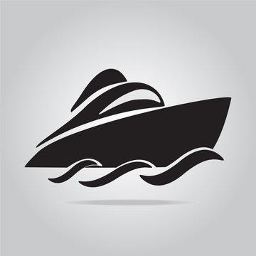 Speedboat symbol vector illustration