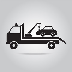 Car towing truck illustration