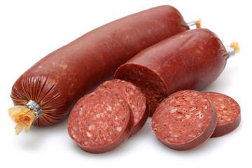 Turkish sausage slices