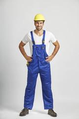 Bauarbeiter Handwerker mit Helm