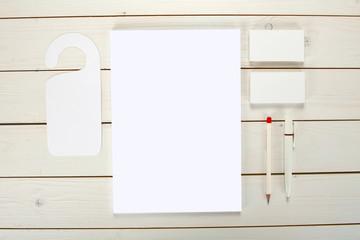 Classic white corporate identity template design. Business stati