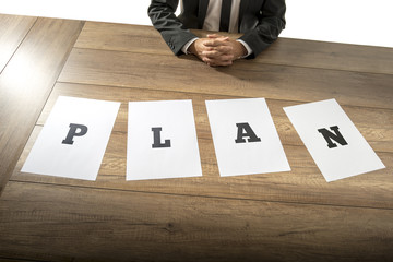 Business plan and strategy concept