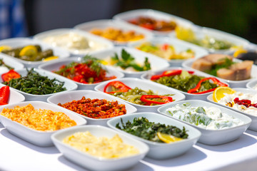 Recess Fitting Appetizer Verschiedene Vorspeisen