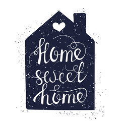Hand drawn typography poster. Conceptual handwritten phrase Home