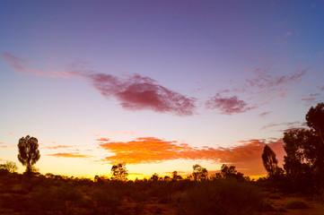 Australien, Sonnenuntergang im Outback