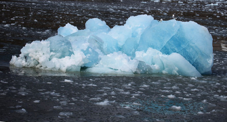 Iceberg and floating ice in Svalbard, Norway