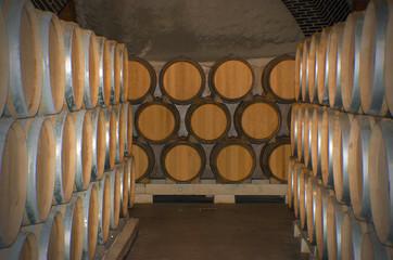 Wine wooden barrels