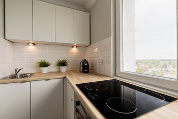 Functional kitchen in new flat