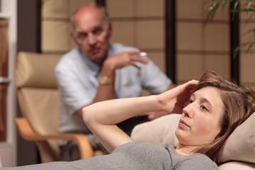 Patient overcoming mental breakdown