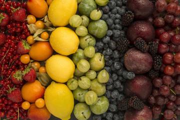 Healthy rainbow fruits