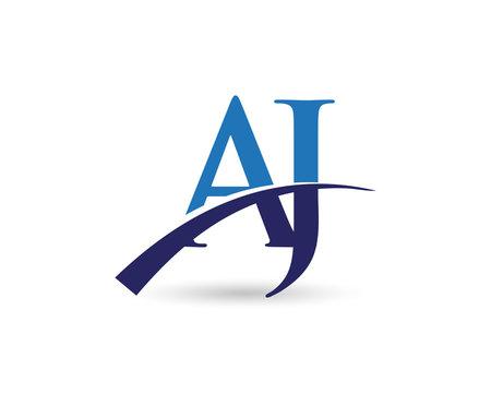 AJ Logo Letter Swoosh