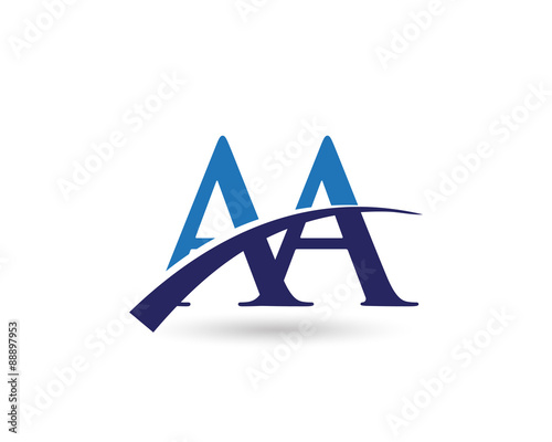 quotaa logo letter swooshquot stock image and royaltyfree