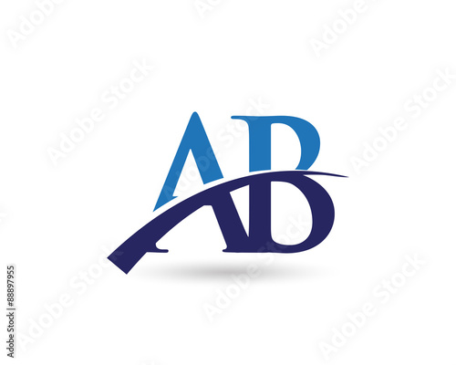 quot ab logo letter swoosh quot  stock image and royalty free Vector Swirl Vector Underline Swoosh