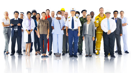 Diverse Business People Successful Career Concept Wall mural