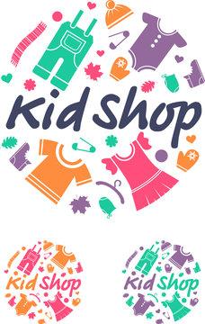 Clothes for children. Vector illustration.