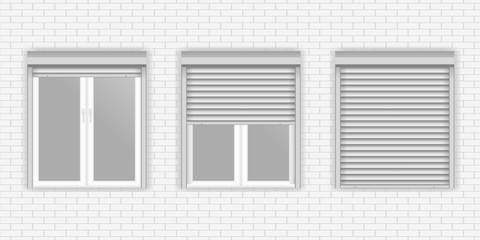 Windows with Rolling Shutters