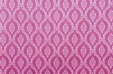 Background of Thai style Pink fabric.