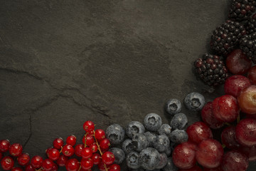 Fruit selection on slate