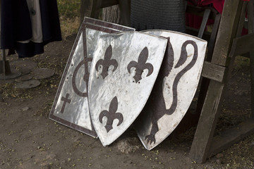 Old templar shield knight equipment photo