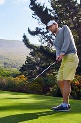 golf man on fairway
