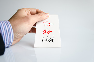 To do list Text Concept