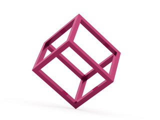 3D cube logo design icon