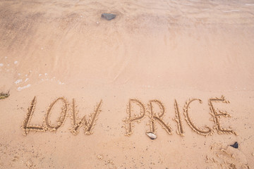 Inscriptions on the sand: low price