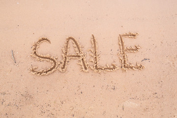 Inscriptions on the sand: sale
