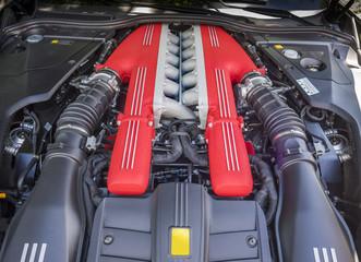 V12 exotic car engine