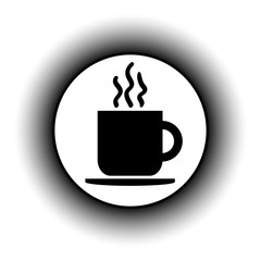 Coffee cup button.