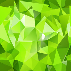 Seamless green polygonal mosaic background.