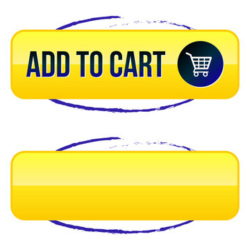 Add to Cart Button with Blue Outline