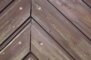 Ausschnitt braune Holztür