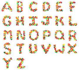 Jelly Fruit Candy - Alphabet