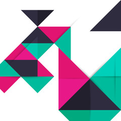 Abstract Background with Triangles Pattern.